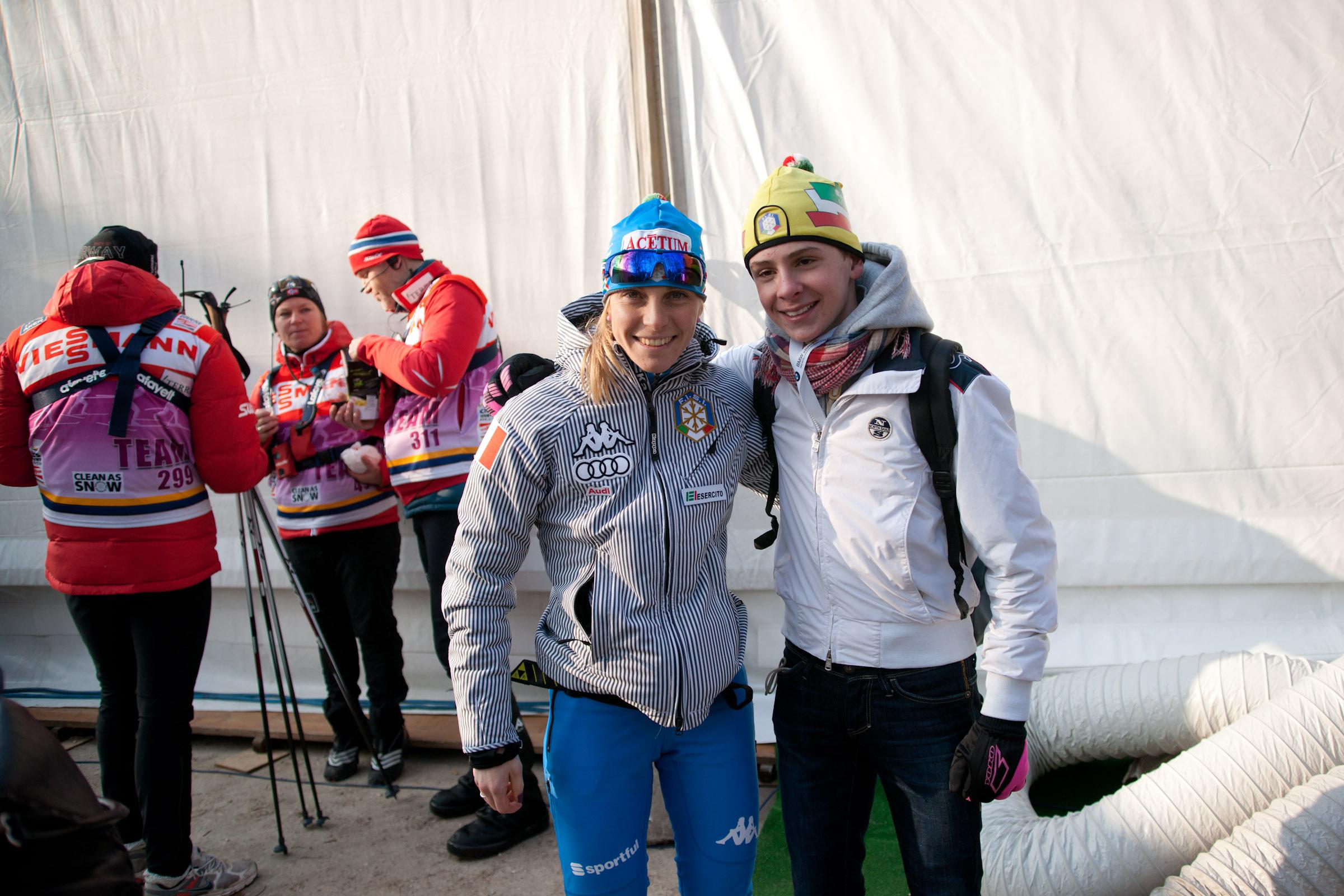 Elisa Brocard (ITA) & Fan