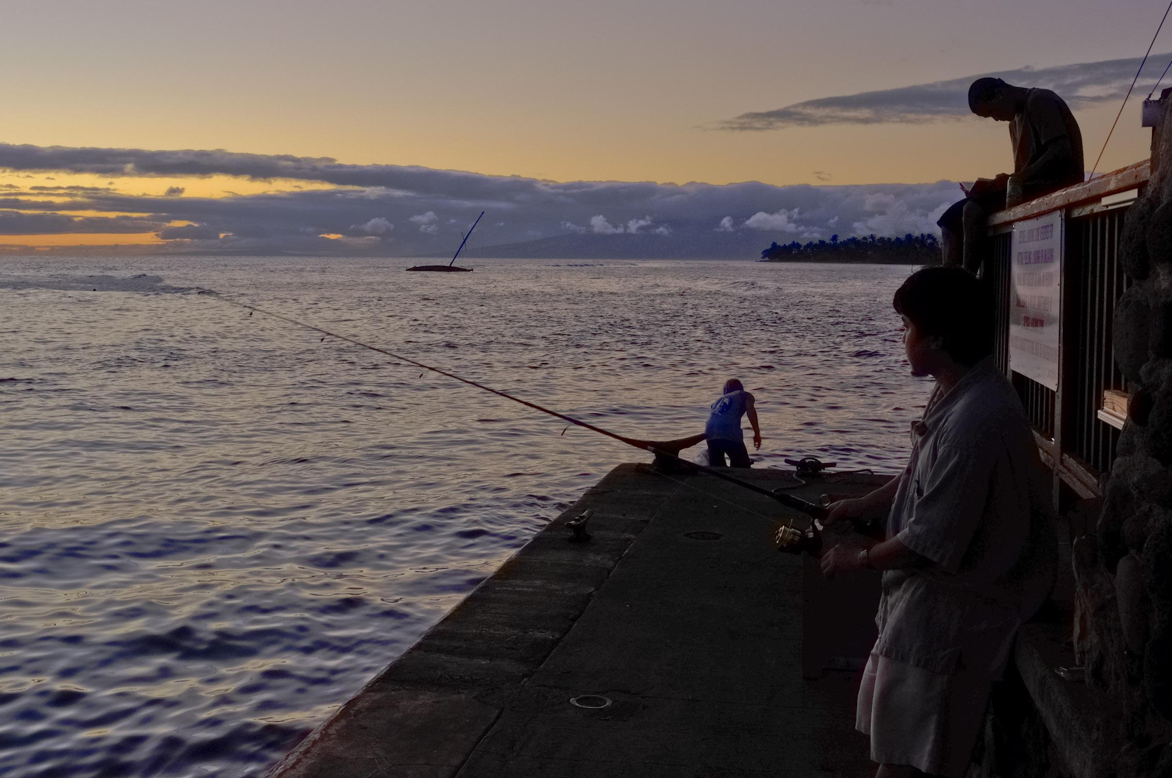 Fishing at Lahaina