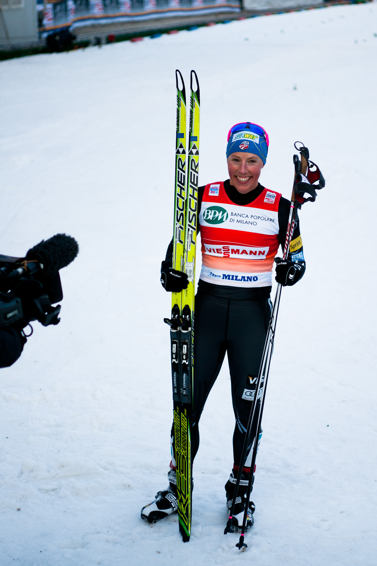Kikkan Randall (USA) placed 2nd