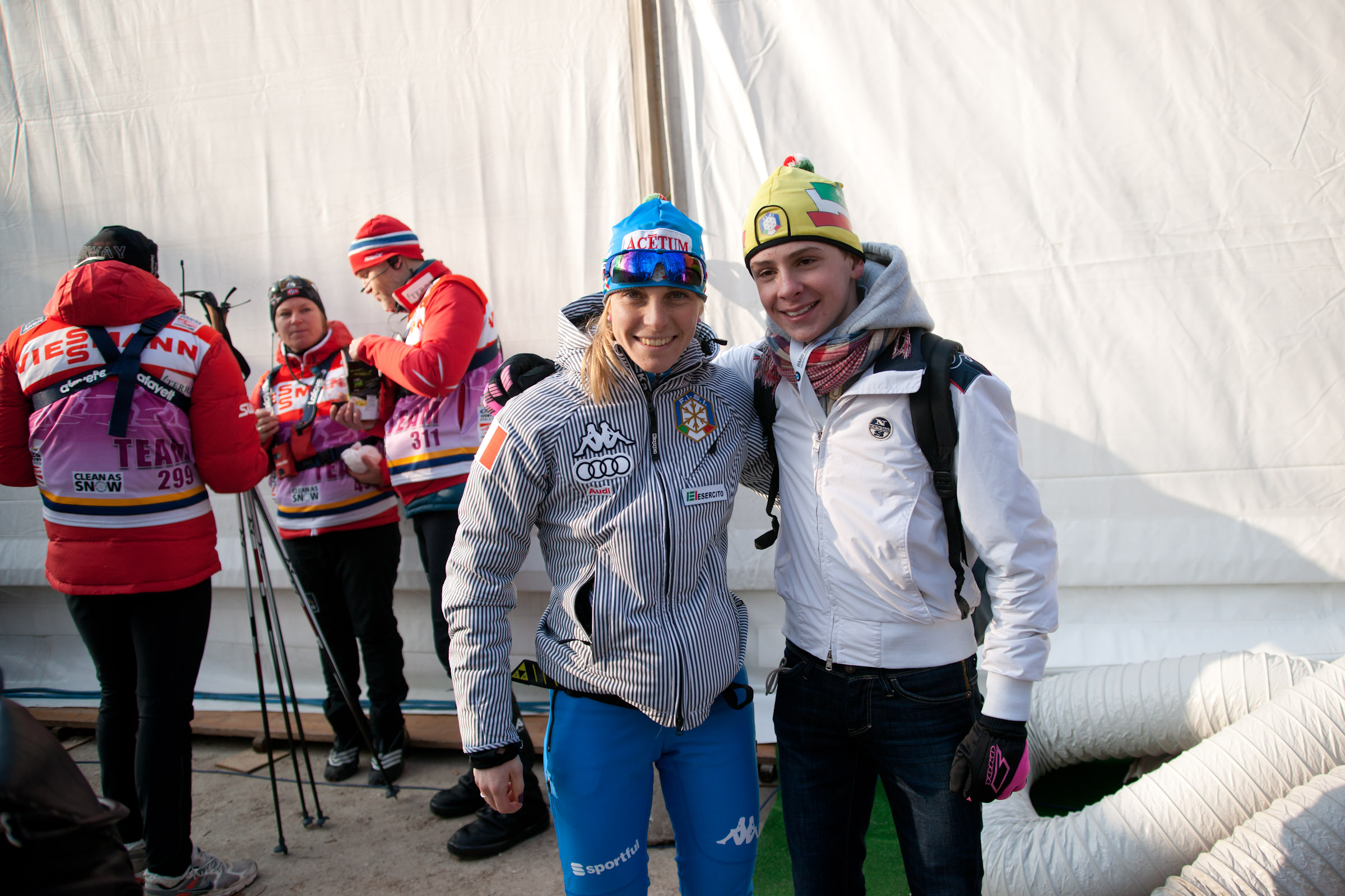 Elisa Brocard (ITA) & Fan