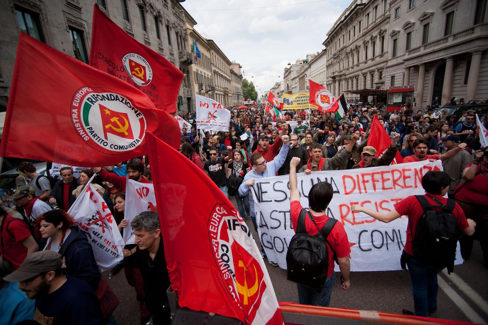 12 - red Political Parade