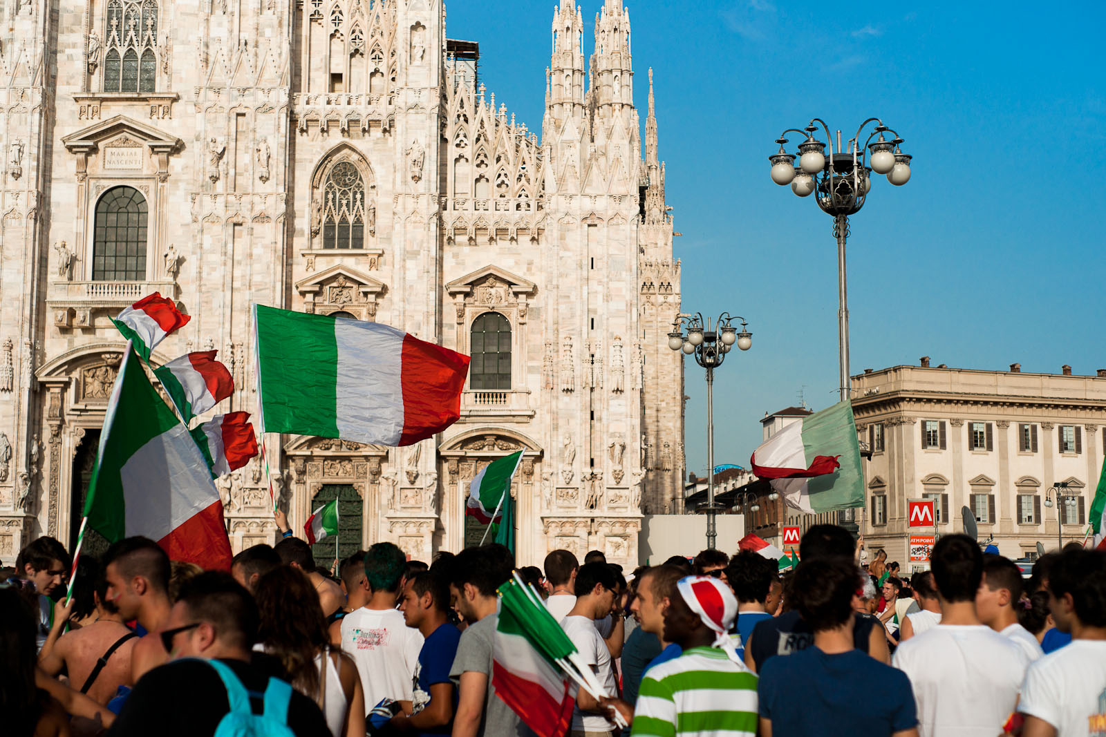 Duomo Square before the final vs Spain