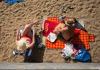 North European couple on the beach