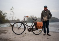 The artist and his bike